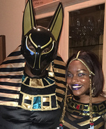Anubis and his Egyptian Queen Homemade Costume