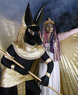 Homemade Anubis and Isis Costumes