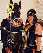 Anubis and Isis Homemade Costume