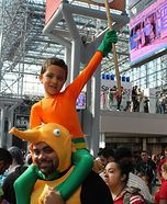 Aquaman and Storm the Seahorse Homemade Costume