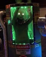 Area-51 Alien in Container Homemade Costume