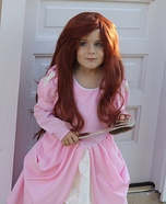 Ariel in Pink Homemade Costume