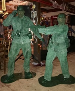 Army Men Couple Homemade Costume