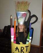 Art Caddy Homemade Costume