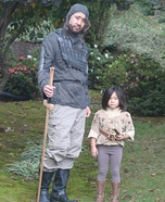 Arya Stark and The Hound from Game of Thrones Homemade Costume