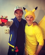 Ash and Pikachu Homemade Costumes