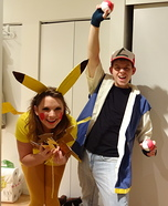 Ash Ketchum and Pikachu Couple Costume