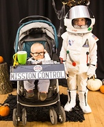 Astronaut and Mission Control Homemade Costume