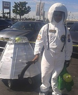 Astronaut Back Home with Alien Evidence Homemade Costume