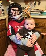 Atlanta Falcons Matt Ryan and his Football Homemade Costume
