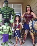 Avengers Family Homemade Costume