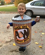 A&W Root Beer Can Homemade Costume