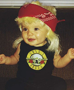 Axl Rose Baby Homemade Costume