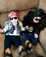 Axl Rose and Slash Twins Homemade Costume