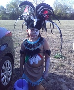 Aztec dia los Muertos Homemade Costume