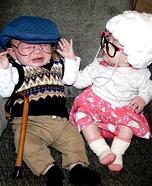 Babies Grandma and Grandpa Homemade Costume