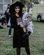 Baby Beetlejuice and Lydia Deetz Homemade Costume