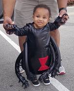 Baby Black Widow Homemade Costume