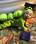 Baby Bookworm Homemade Costume