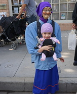 Baby Brielle and Grandma Homemade Costume