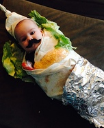 Baby Burrito Homemade Costume