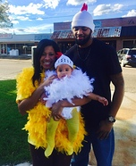 Baby Chick and Chick Family Homemade Costume