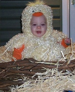Baby Chick in the Nest Homemade Costume