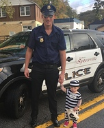 Baby Cops Homemade Costume
