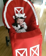 Baby Cow in Barn Homemade Costume