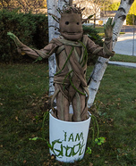 Baby Dancing Groot Homemade Costume