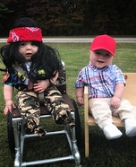 Baby Forrest Gump and Lt. Dan Homemade Costume