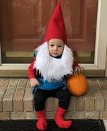 Baby Garden Gnome Homemade Costume