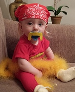 Baby Hulk Hogan Homemade Costume