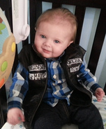 Cute baby costume ideas: Baby Jax Teller Homemade Costume