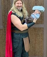 Baby Mjolnir and Thor Homemade Costume
