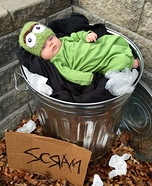 Baby Oscar the Grouch Homemade Costume