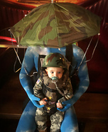 Baby Paratrooper Homemade Costume