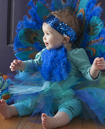Cute baby costume ideas: Baby Peacock Homemade Costume