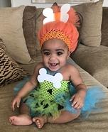 Baby Pebbles Homemade Costume