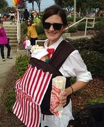Baby Popcorn Homemade Costume