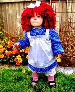 Baby Raggedy Ann Homemade Costume