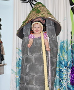 Baby Rapunzel and her Tower Homemade Costume