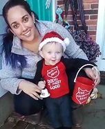 Baby Salvation Army Bell Ringer Homemade Costume
