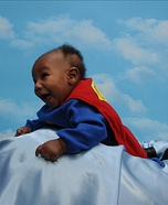 Homemade Baby Superman costume