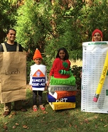 Fun family Halloween costume ideas - Back-to-School Family Costume