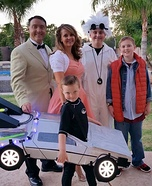 Back to the Future Family Homemade Costume