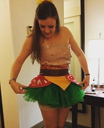 Bacon Cheeseburger Homemade Costume
