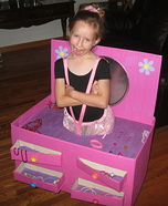 Ballerina in a Jewelry Box Homemade Costume