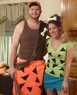 Bamm-Bamm and Pebbles Costume