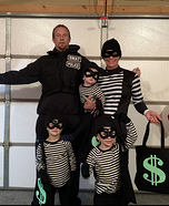 Bank Robbers and a Swat Team Member Homemade Costume
